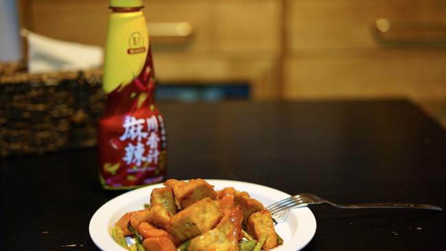 #豪吉川香美味#川香芦笋炒豆腐的做法