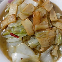 大白菜烧鱼豆腐的做法图解5