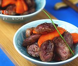 红菜腊肠#美的微波炉菜谱#的做法