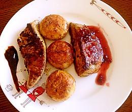 双味法式香煎鹅肝配口蘑的做法
