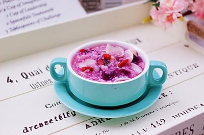 紫薯百合核桃糯米粥