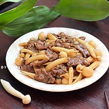 #快手又营养,我家的冬日必备菜品# 海鲜菇炒牛肉