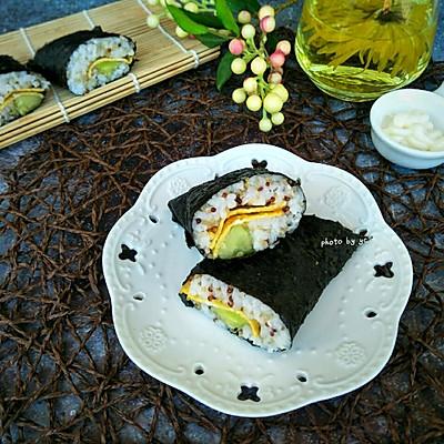 藜麦紫纸包饭