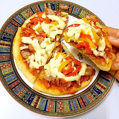 电饭锅自制培根披萨