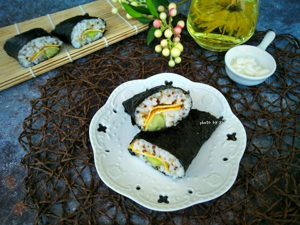 藜麦紫纸包饭的做法