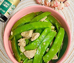 #仙女们的私藏鲜法大PK#肉片炒荷兰豆的做法