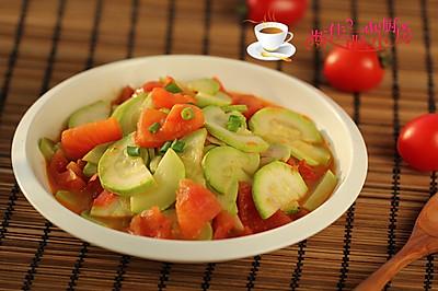 西红柿炒笋瓜#舌尖上的春宴#