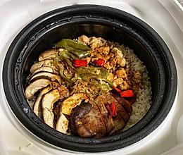 香菇鸡肉煲仔饭(电饭煲版)的做法