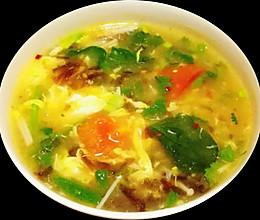 超级简单的菠菜柿子蛋花汤的做法