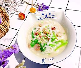 #换着花样吃早餐#香肠豆丝锅的做法