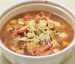 肥肠炖豆腐的做法