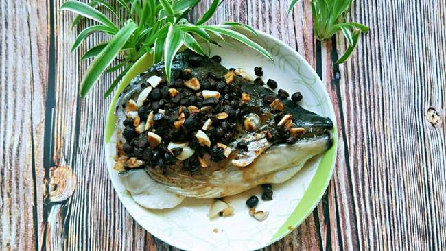豆豉蒸三文鱼头的做法