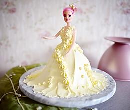 婚纱裱花娃娃蛋糕的做法