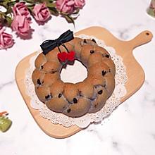 #令人羡慕的圣诞大餐#蓝蓝蔓越莓全麦面包