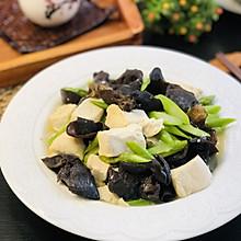 自己做的豆腐&豆腐芦笋炒素 净素食