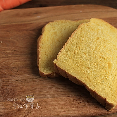 【胡萝卜奶油吐司】——面包机一键吐司