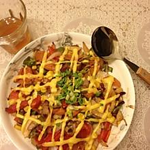 火腿牛肉焗饭