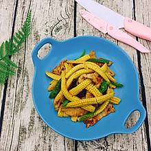 玉米笋炒肉片
