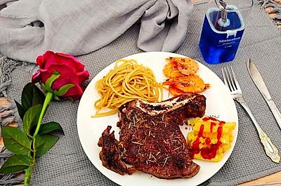 #520,美食撩动TA的心!#战斧-家庭版西餐