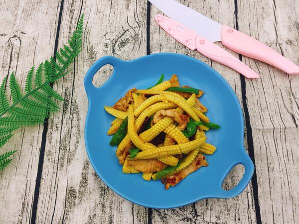 玉米笋炒肉片的做法