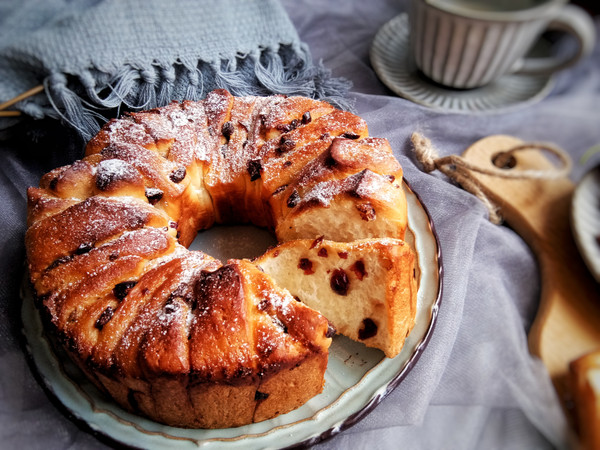 香甜炼乳蔓越莓手撕面包的做法