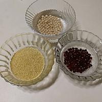 红豆黄豆小米豆浆#雀巢营养早餐#的做法图解1
