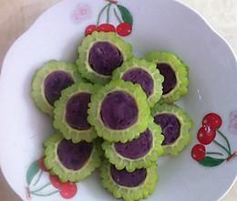 紫薯苦瓜的做法