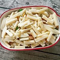 培根鲜蔬焗饭的做法图解4