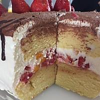 戚风蛋糕8寸方盘--生日快乐(不回缩的简单成功版)的做法图解10