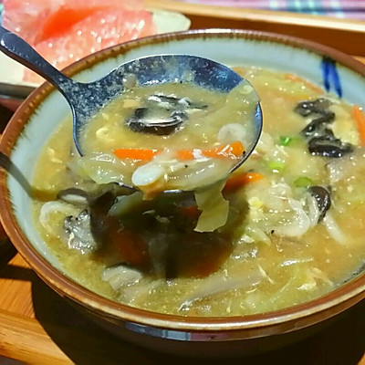 應季美食----大白菜疙瘩湯