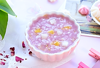 紫薯水果粥的做法