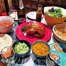 墨西哥鸡肉卷:加州正宗风味(附送烤鸡和酱料调配)