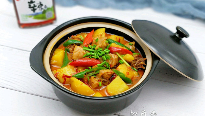 土豆鸡火锅,一道可以两吃的菜