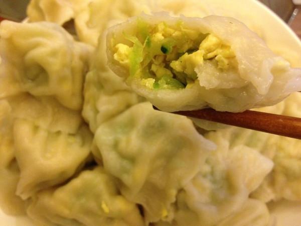 黄瓜鸡蛋素馅水饺的做法