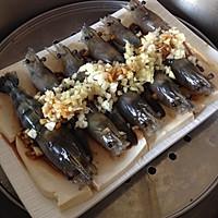 鲜香十足的蒜蓉蒸虾的做法图解5