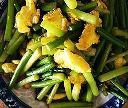 家常蒜苔炒蛋的做法