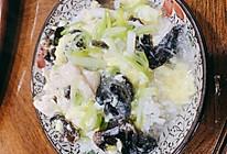 木耳鸡肉滑蛋烩饭的做法