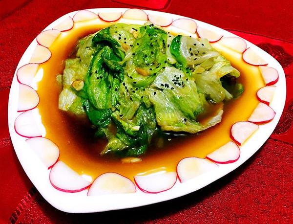 蚝油手撕西生菜的做法