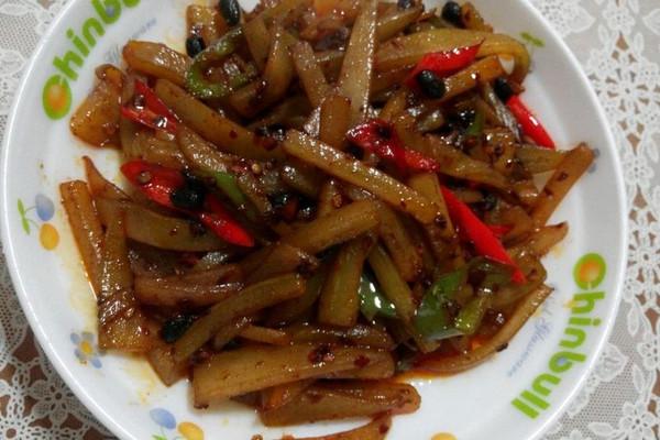 豉椒辣炒嫩笋的做法