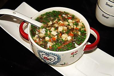 马齿苋豆腐鸡蛋汤