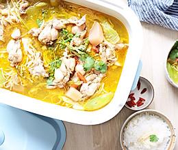 #520,美食撩动TA的心!#一锅两吃,酸萝卜牛蛙汤的做法