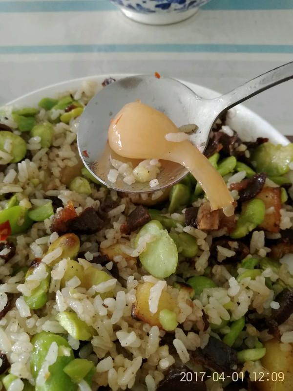 干巴洋芋焖饭的做法
