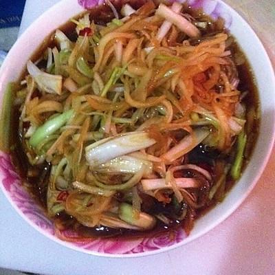 赣南特色凉菜:棒棒菜丝的做法 步骤4