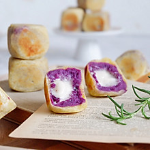 棉花糖紫薯仙豆糕#网红美食我来做#