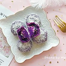 椰蓉紫薯球——紫米夹心