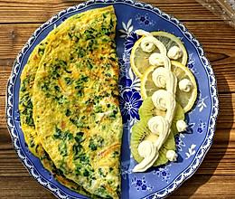 快手早餐——菠菜胡萝卜鸡蛋饼的做法