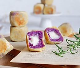 棉花糖紫薯仙豆糕#网红美食我来做#的做法