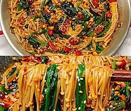 低脂低卡,超级过瘾巨下饭的菠菜拌金针菇的做法