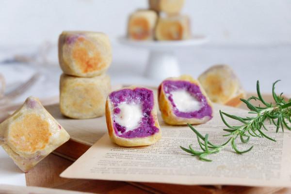 棉花糖紫薯仙豆糕的做法