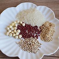 莲子红豆粥的做法图解1
